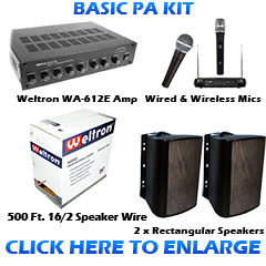 Basic PA Sound System Kit