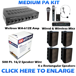 Medium Sized PA Sound System Kit