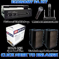 Economy PA Sound System Kit