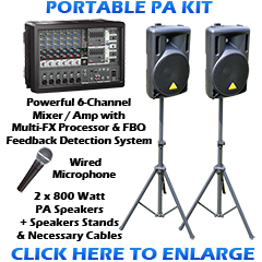 Portable PA Sound System Kit
